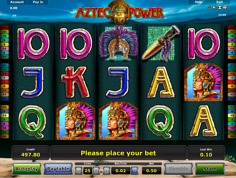 gioco aztec power