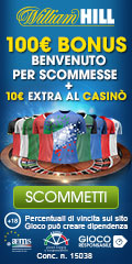 William Hill Bonus senza deposito