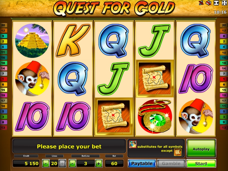 gioco quest for gold
