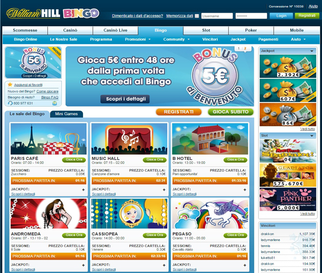 bingo william hill