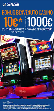 Slot machine bar Snai