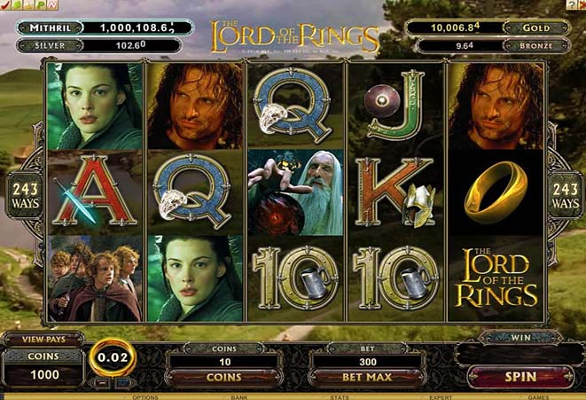 slot online the lord of the rings